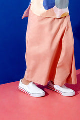The KITA Folded Skirt - Dusty Pink