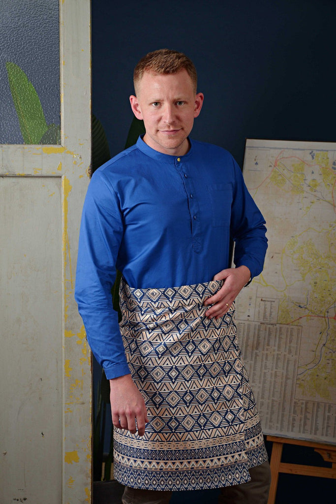 The Cerita Men Kurta - Royal Blue