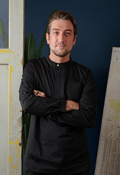 The Cerita Men Kurta - Black