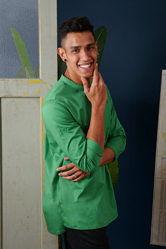 The Cerita Men Kurta - Pandan Green
