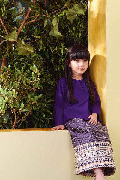 The TENANG Petal Baju Kurung - Purple