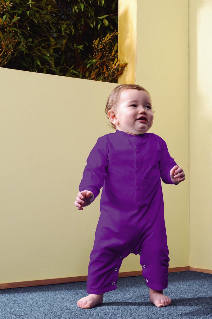 The TENANG Babies Mandarin Jumpsuit - Purple
