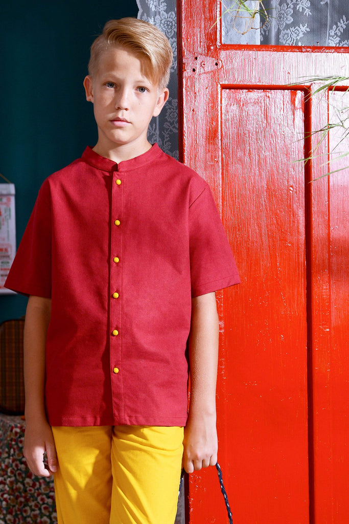 The Spring Mandarin Top - Red - POKOKS.COM