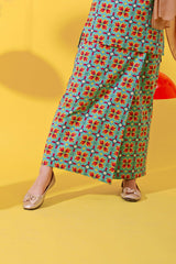 The Spring Folded Skirt - Spring Garden Print