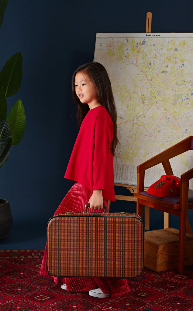 The Cerita HI-LO Blouse - Ruby Red