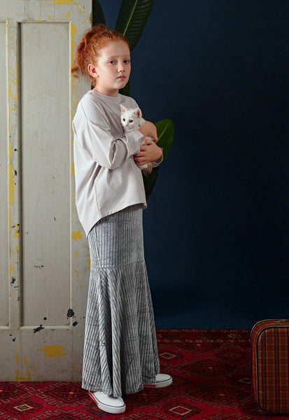 The Cerita Baju Kurung - Light Grey