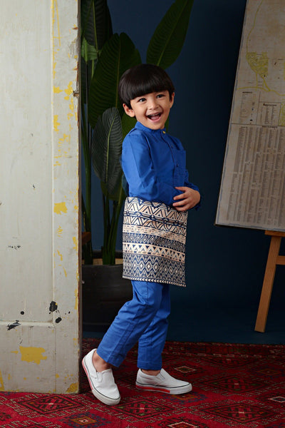 The Cerita Jacquard Samping - Royal Blue