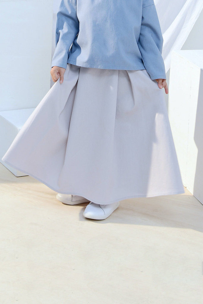 The Bangun A-Line Skirt - Light Grey