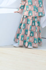 The Bangun A-Line Skirt - Broccoli Print