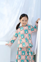 The Bangun Pair Pockets Kurti - Broccoli Print