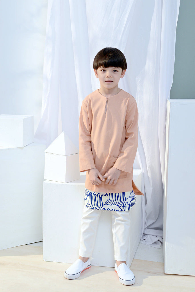 The Bangun Pair Pockets Kurta - Peach