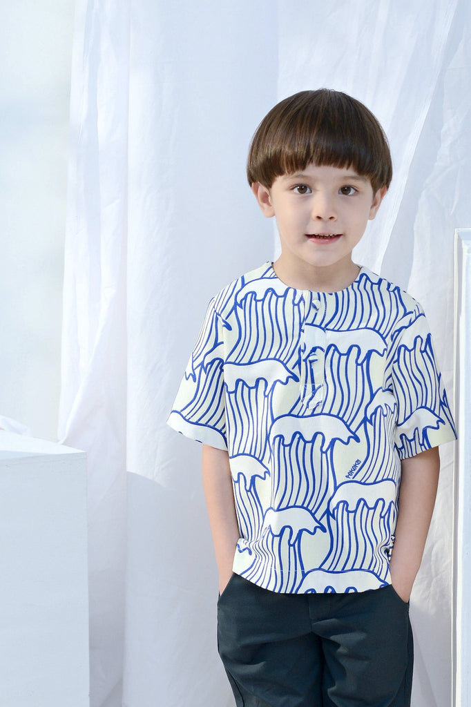 The Bangun Short Sleeves Shirt - Nami Print