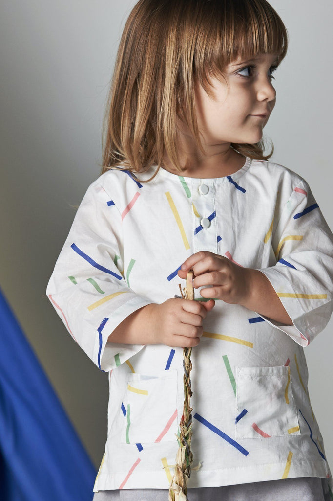 The Serai Ethnic Pair Pockets Shirt - Summer Playdate