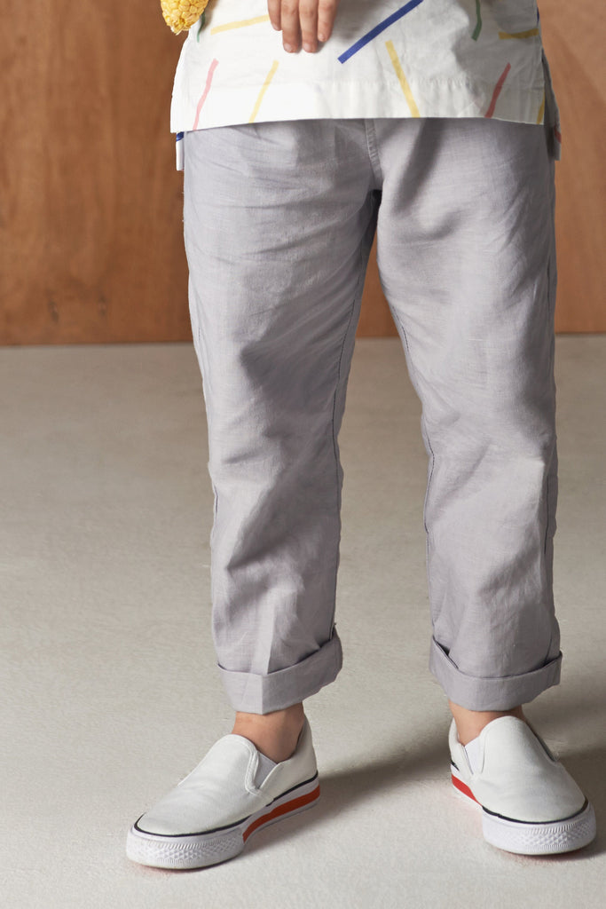 The Serai Unisex Tapered Pants - Grey
