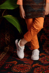 The Teratai Slim Pants - Orange