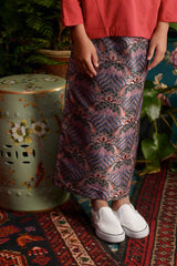 The Teratai Jacquard Skirt - Himalaya Black