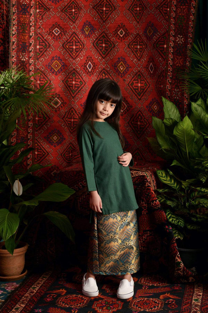 The Teratai Kameez - Dark Green - POKOKS.COM