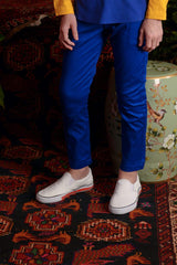 The Teratai Slim Pants - Royal Blue