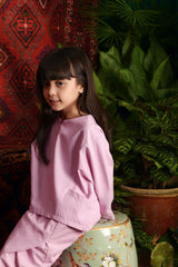 The Teratai Kite Blouse - Light Purple