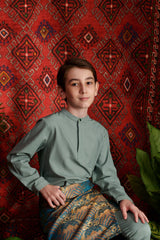 The Teratai Mandarin Kurta - Vegan Green