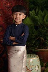 The Teratai Mandarin Kurta - Navy Blue