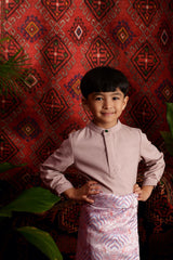 The Teratai Mandarin Kurta - Dusty Pink