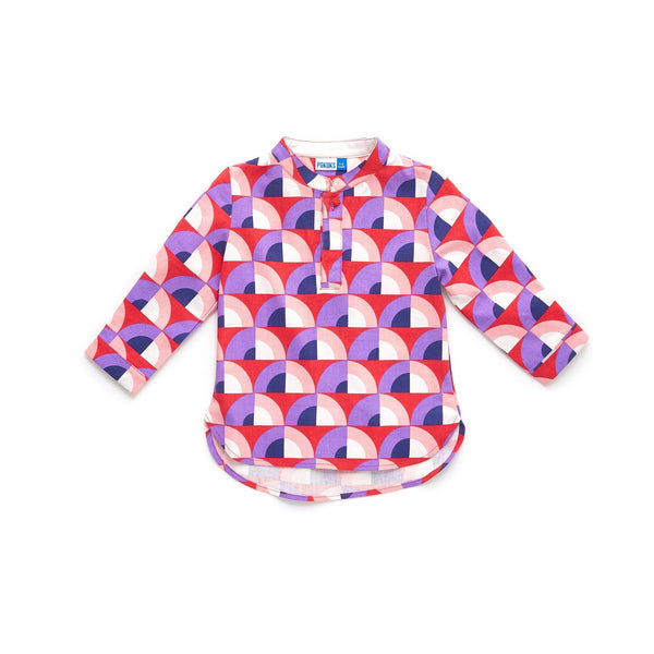 The Limau Mandarin Collar Shirt - Manggis Print