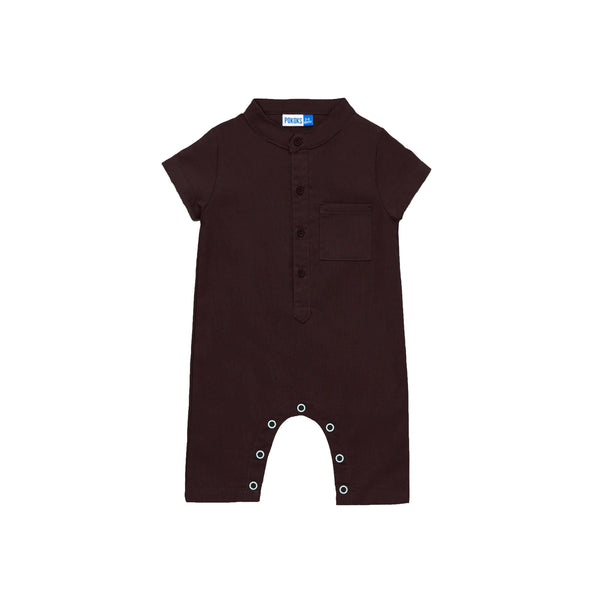 The Cerita Babies Jumpsuit - Walnut Brown
