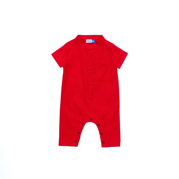 The Cerita Babies Jumpsuit - Crimson