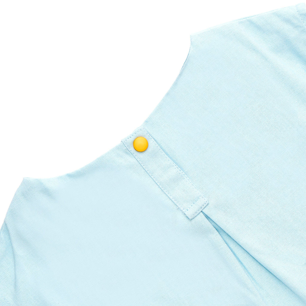 The Cerita Baby Hi-Lo Blouse - Light blue