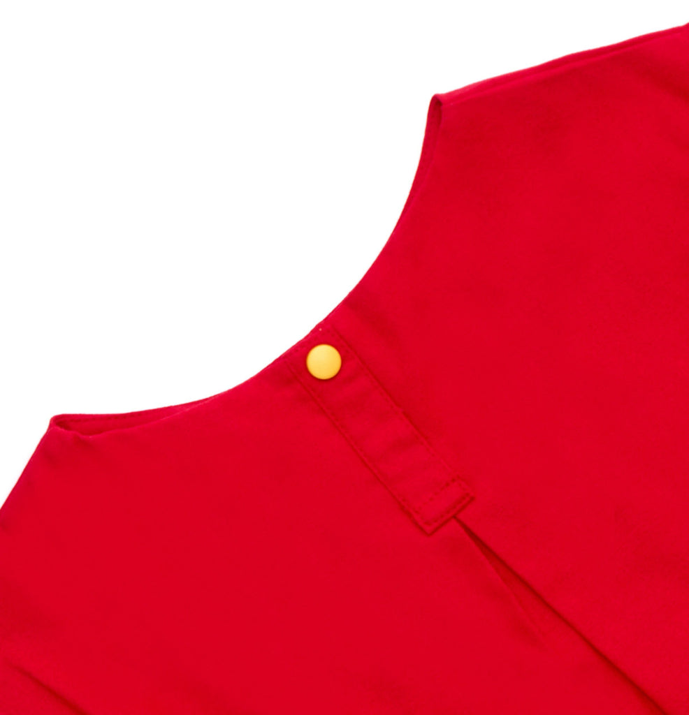 The Cerita Baby Hi-Lo Blouse - Crimson