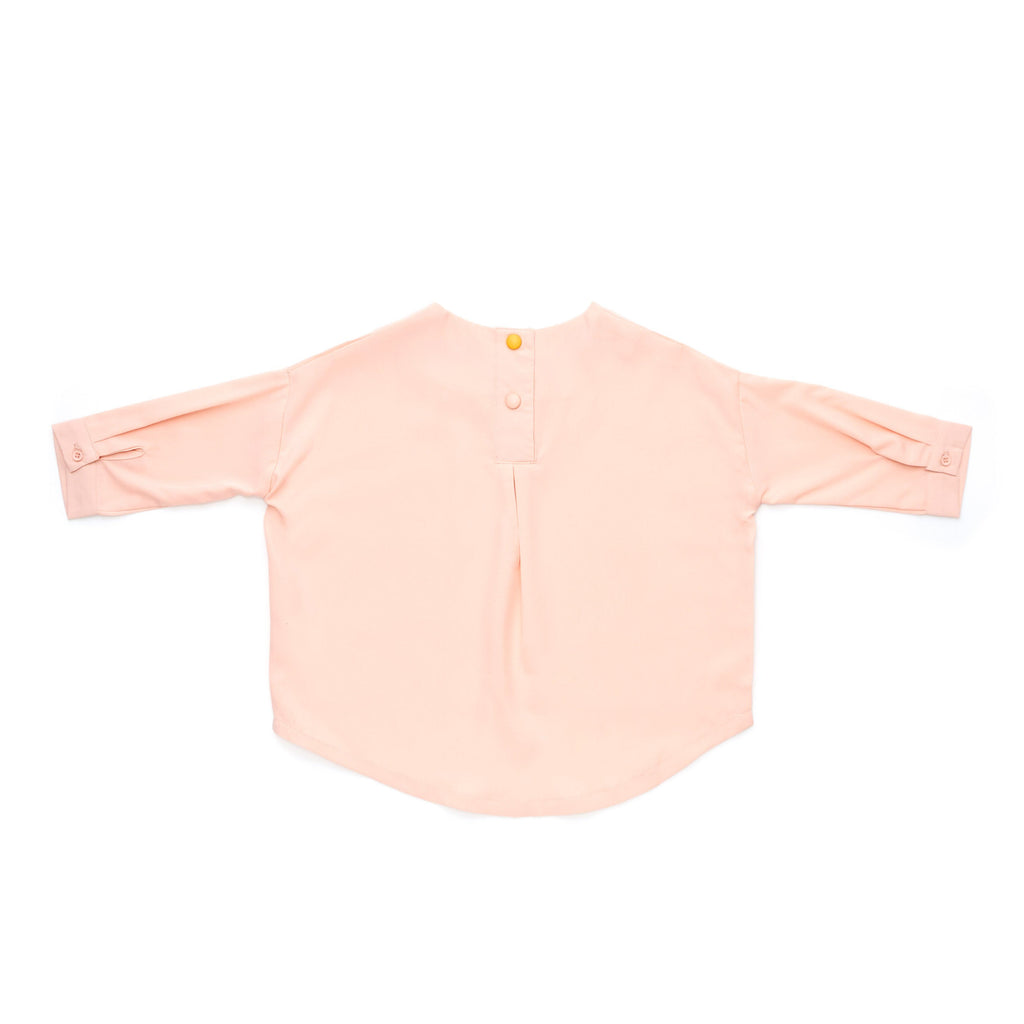 The Cerita HI-LO Blouse - Light Peach