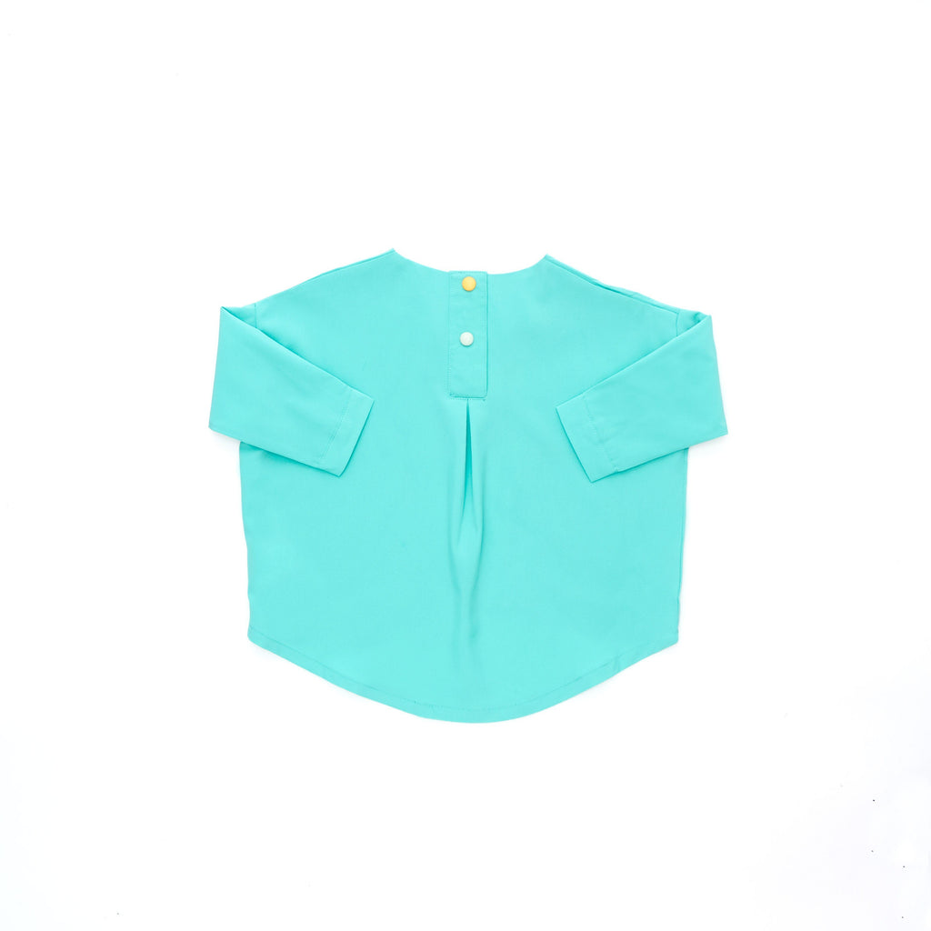 The Cerita HI-LO Blouse - Tiffany Green