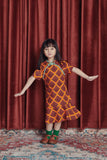 The Spring Short Sleeve Midi Cheongsam - Sunrise Print