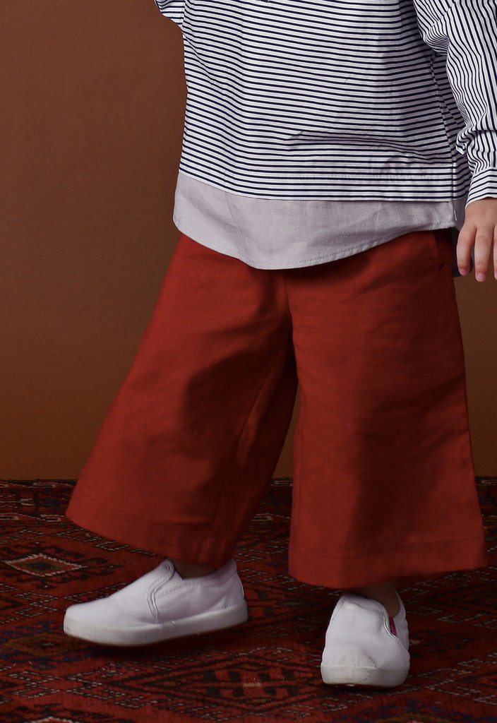 The Ingat Unisex Easy Pants - Ruby Red