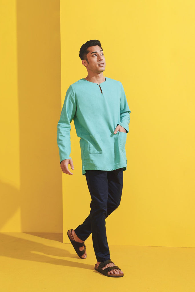 The Kurnia Men Kurta - Tiffany Green