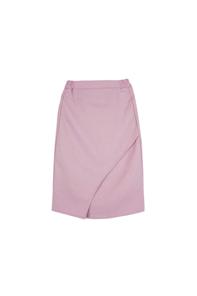 The Teratai Tulip Skirt - Light Purple - POKOKS.COM