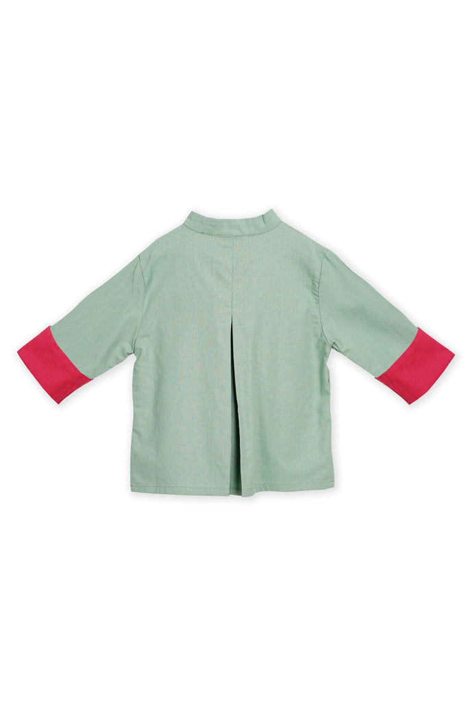 The Spring Samfu Top - Vegan Green - POKOKS.COM