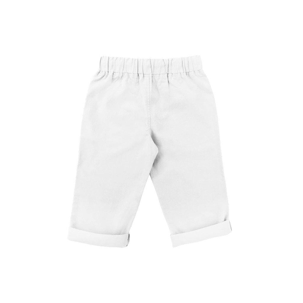 The Serai Unisex Tapered Pants - White