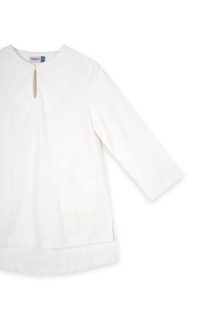 The Bangun Pair Pockets Kurta - White