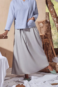 The Balik Women A-Line Skirt - Light Grey