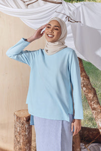 The Balik Women Pesak Blouse - Light Blue