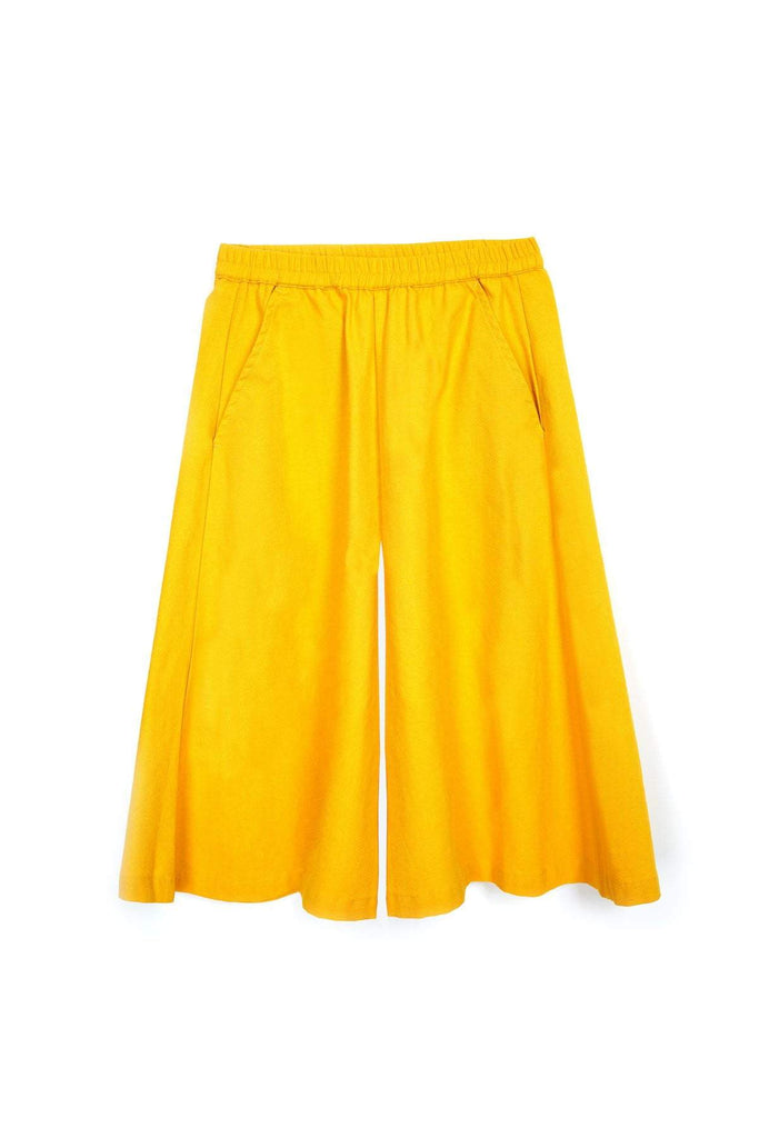 The Spring Super Wide Leg Pants - Mustard - POKOKS.COM