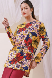 The Nari Women Kurti With Pockets - Hibiscus Print