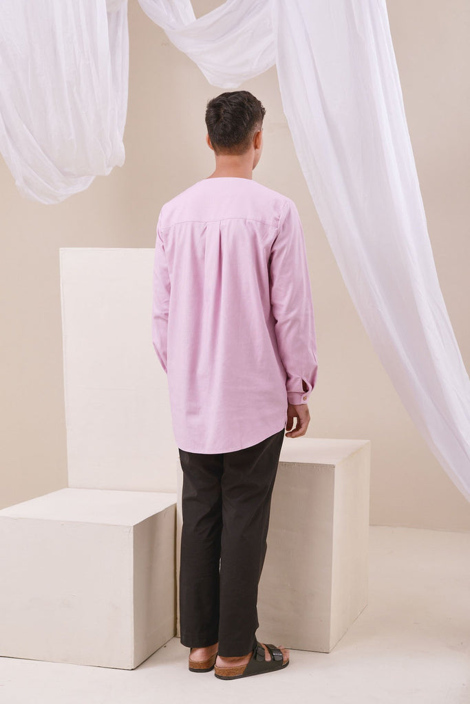 The Nari Men Kurta - Light Purple