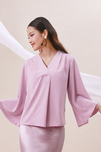 The Nari Women Butterfly Blouse - Light Purple