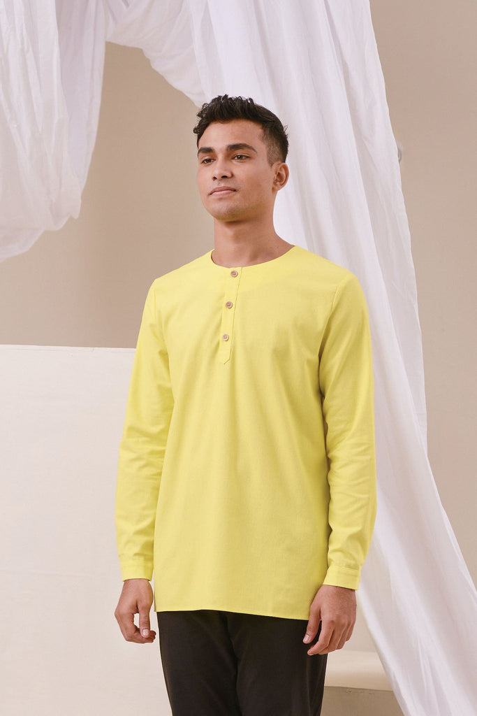 The Nari Men Kurta - Lemon Yellow