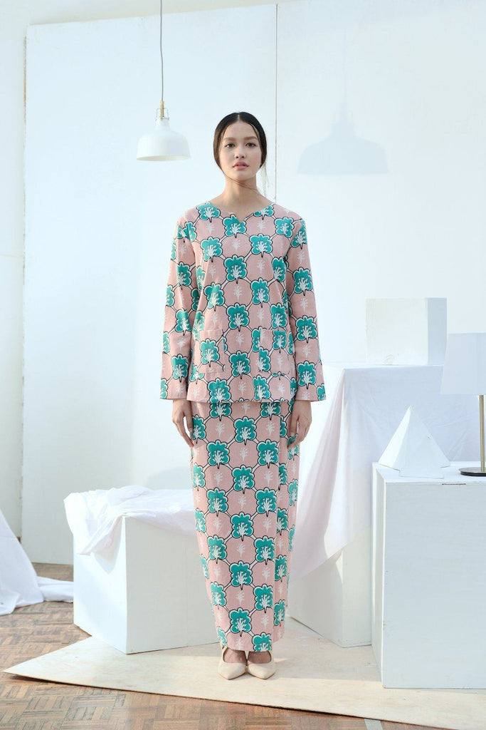The Bangun Women Pair Pockets Kurti - Broccoli Print