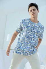 The Bangun Men Short Sleeves Shirt - Nami Print