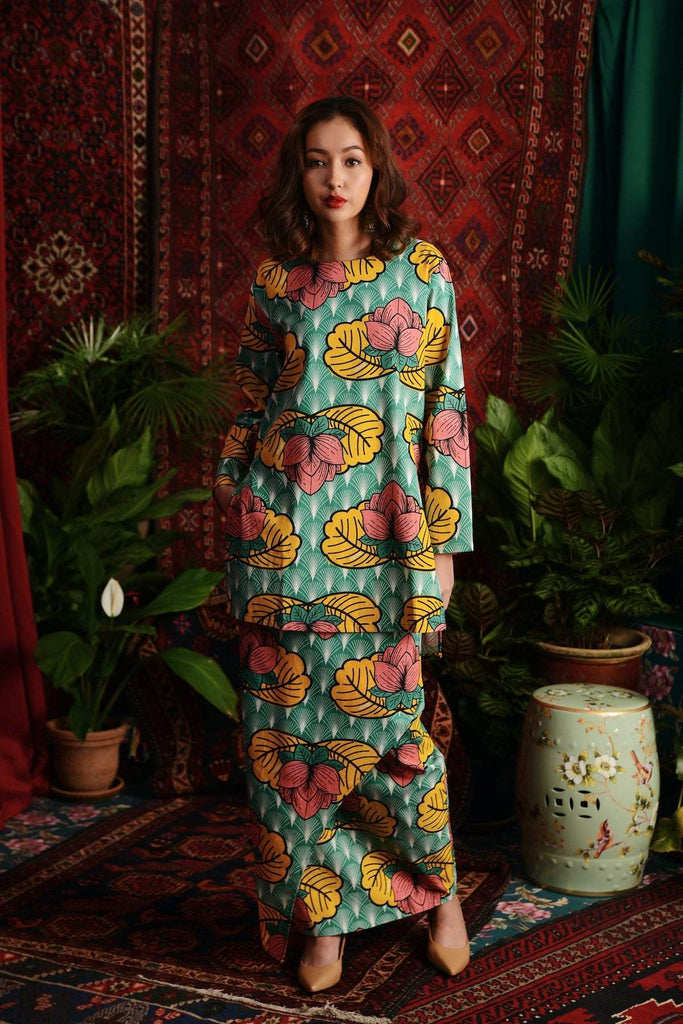 The Teratai Women Kameez - Magic Lotus - POKOKS.COM